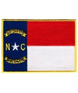 North Carolina State Flag Embroidered Patch Iron-On NC Emblem - $3.99