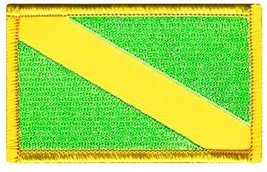 Nitrox Diver Down Flag Patch Fluorescent Green Embroidered Iron On Scuba Divi... - $3.99