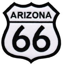 Route 66 Arizona Embroidered Patch Iron-On Highway Road Sign Biker Emblem - $4.99