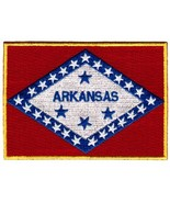 Arkansas State Flag Embroidered Patch Iron-On AR Emblem - $3.99