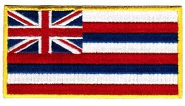 Hawaii State Flag Embroidered Patch Iron-On HI Hawaiian Islands Emblem - $3.99