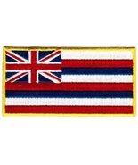 Hawaii State Flag Embroidered Patch Iron-On HI Hawaiian Islands Emblem - $3.99