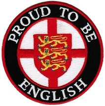 Proud To Be English Embroidered Patch England Flag Iron-On UK British Coat Arms - $5.99