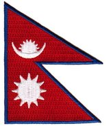 Nepal Flag Embroidered Patch Nepali Nepalese Sherpa Iron-On National Emblem - $3.99