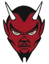 Red Devil Embroidered Patch Satanic Evil 666 Lucifer Satan Iron-on Emblem Small - $4.99