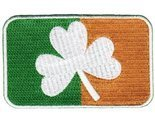 Ireland Clover Flag Embroidered Patch Irish Shamrock Iron-On Emblem