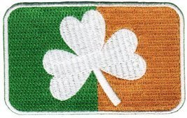 Ireland Clover Flag Embroidered Patch Irish Shamrock Iron-On Emblem - $4.99