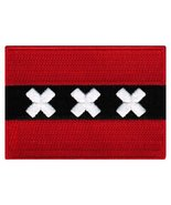 Amsterdam Flag Embroidered Patch Iron-On Netherlands Holland City Emblem - $3.99