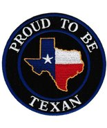 Proud To Be Texan Embroidered Patch Lone Star Texas State Flag Iron-On B... - $5.99