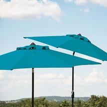 Member's Mark 10' Market Umbrella - Teal , Melon, Grey 118 L.x 118 W. x ... - $121.95