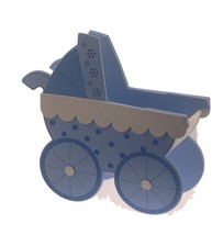 2 Pcs Blue Baby Shower Birthday Stroller Buggy Cart EVA Foam Centerpiece... - $17.77