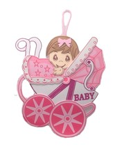 2 pc Baby Shower Birthday Hanging Foam Girl Centerpiece buggy Decoration... - $16.82