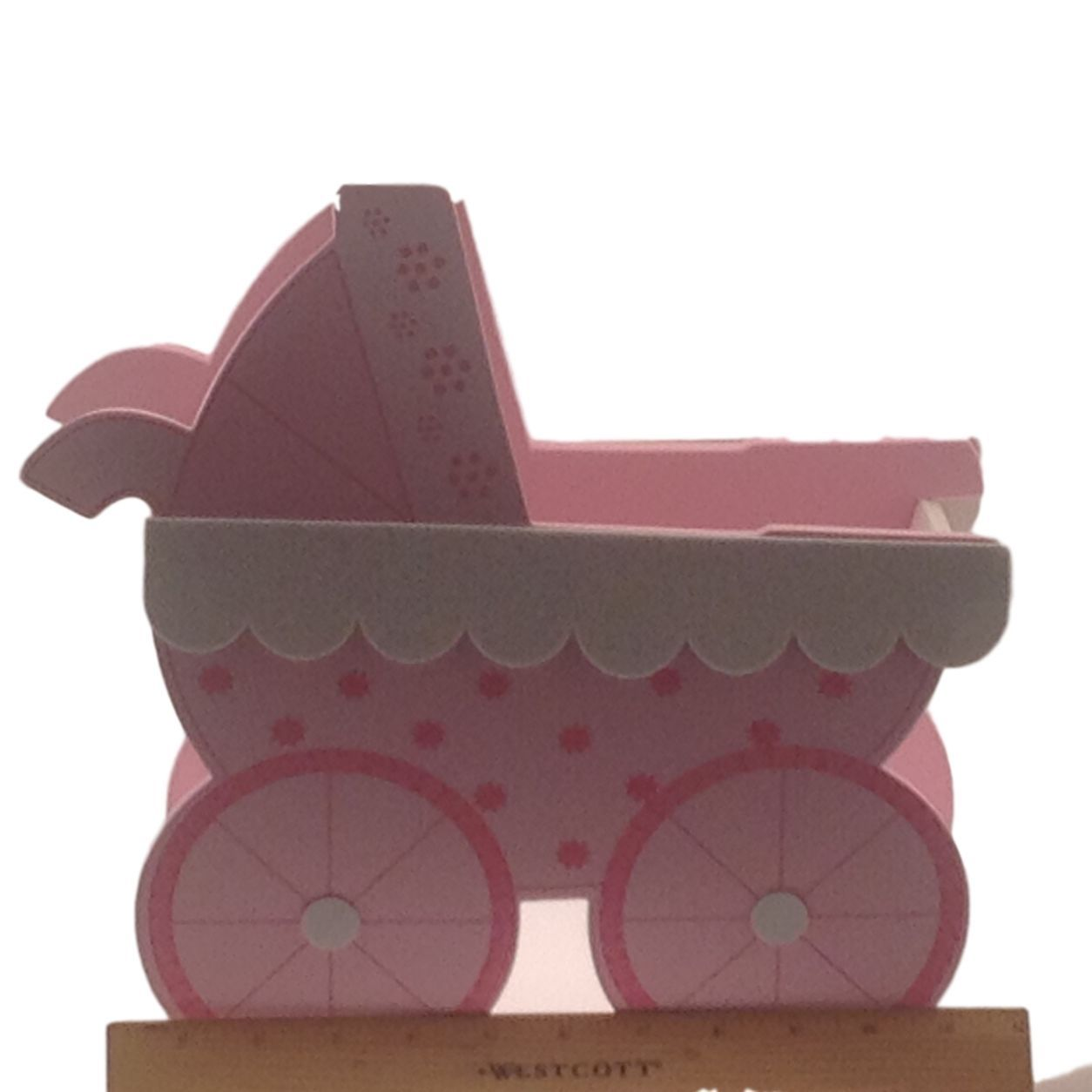 Jumbo Pink Baby Shower birthday Stroller buggy Cart EVA Foam Centerpiece 12""