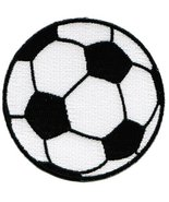 Soccer Ball Patch Embroidered World Cup Iron-On Football Emblem - $4.50