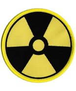Nuclear Radiation Symbol Embroidered Patch Iron-On Danger Symbol Black Logo - $3.99