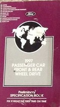 1997 FORD Mercury Lincoln Front & Rear Wheel Drive Specifications Manual... - $39.55