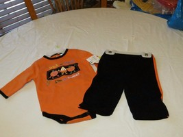 infants Baby Essentials Halloween costume 2 pc set 3 mo trick treat outf... - $8.90
