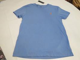 Men's Polo Ralph Lauren T shirt crew neck blue orange logo soft S NEW 0499400 - $22.88
