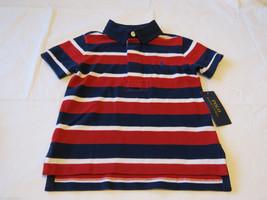 Baby boy's Polo Ralph Lauren 4 4T Toddler polo shirt navy red white stri... - $41.59