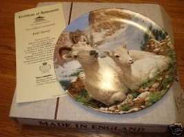Bradford Exchange Dall sheep plate w/cert/box - $15.45