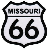 Route 66 Missouri Embroidered Patch Iron-On Highway Road Sign Biker Emblem - $4.99