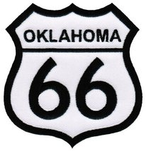 Route 66 Oklahoma Embroidered Patch Iron-On Highway Road Sign Biker Emblem - $4.99