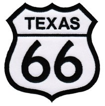 Route 66 Texas Embroidered Patch Iron-On Highway Road Sign Biker Emblem - $4.99