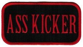 Ass Kicker Patch Embroidered Iron-On Tough Guy Biker Emblem - $4.99