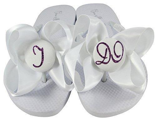 58e0c81ed Flat Bride I DO White Sandals with Satin and 26 similar items