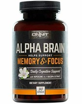 ONNIT Alpha Brain (90ct) - Over 1 Million Bottles Sold - Premium Nootrop... - $145.11
