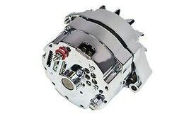 SBC BBC GM CHEVY Chrome 110 Amp Alternator with 1 Wire Setup 305 350 383 400 454 image 5