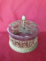 beatifull crystal and ormolu bronze Empire jewelry box - $881.10