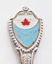 Collector Souvenir Spoon Canada Confederation 1867 1967 Maple Leaf Emblem - $2.99