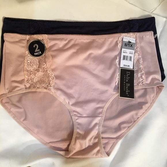 dc8a22bf6b15 Delta Burke Set 2 high waist bikini panties 8 1X New - $15.95