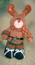 Moose Standing Christmas Decoration Soft Plush ... - $9.99