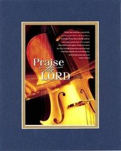 Praise the Lord, Psalm - 150:3-6 . . . 8 x 10 Inches Biblical/Religious Verse... - $10.39