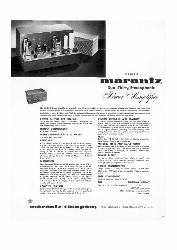 Marantz model 8 owners manual and more and 50 similar items output 1 fandeluxe Images