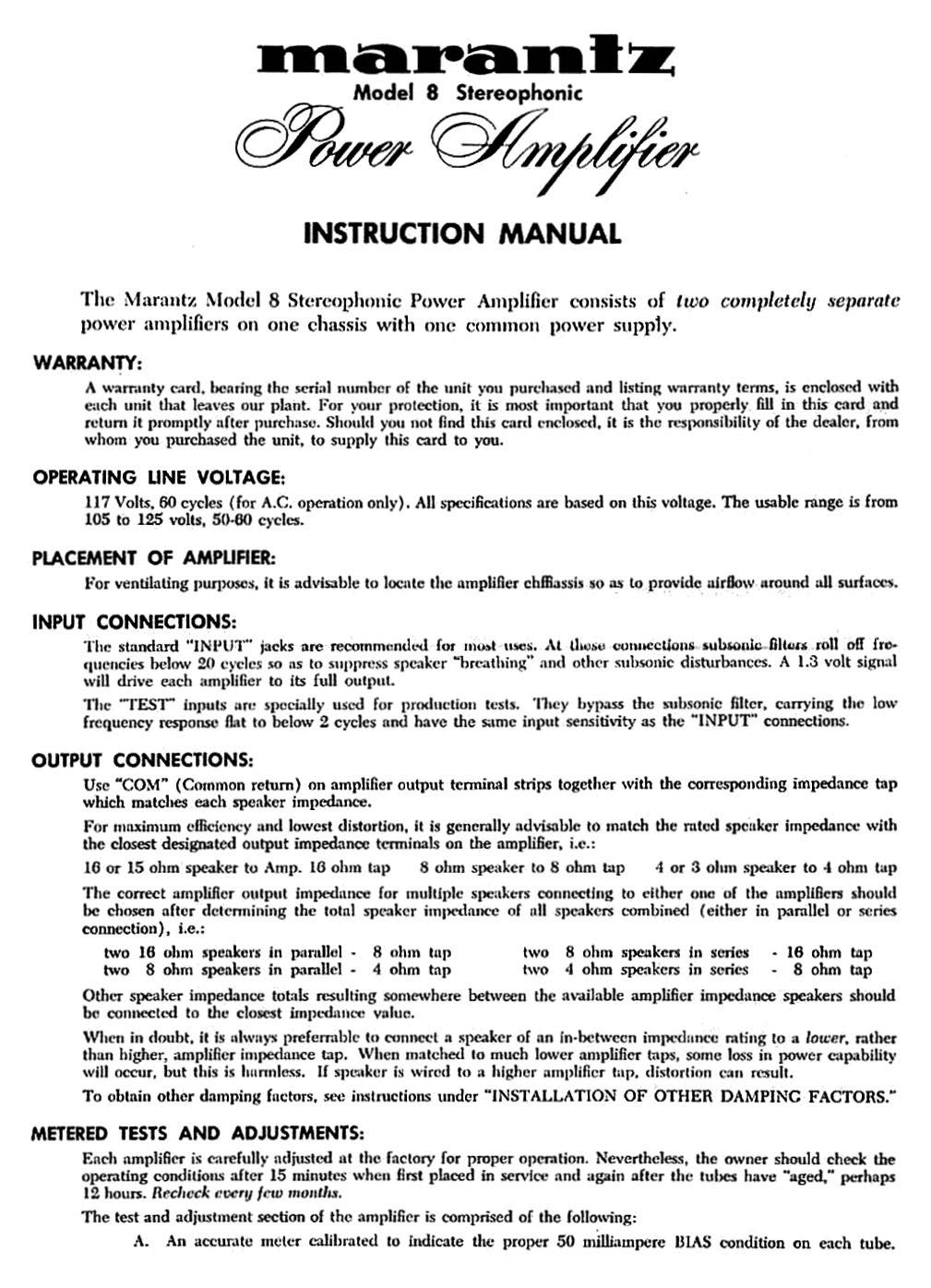 Marantz model 8 owners manual and more and 50 similar items marantz model 8 owners manual and more instant download fandeluxe Images