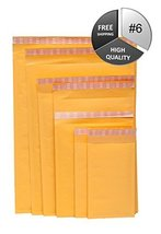 "500 Eco-lite #6 Golden Kraft Self Seal Bubble Mailer, 12 1/2"" x 19"" 500pcs - $229.28"
