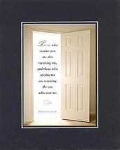 Those who receive you are also receiving me, . . . 8 x 10 Inches Biblical/Rel... - $10.39