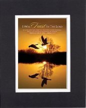 I Will Trust in the Lord - Hebrews 12:1-2. . . 8 x 10 Inches Biblical/Religio... - $10.39