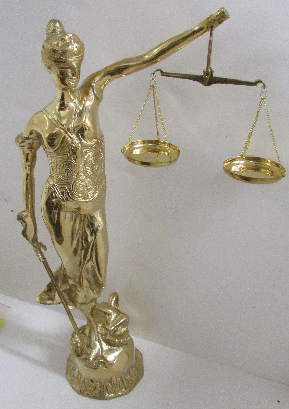 Scales Of Justice Lady Justice Brass Blind Lady Justice 19 ...