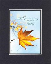 He Put a New Song - Psalm 40:3. . . 8 x 10 Inches Biblical/Religious Verses s... - $10.39