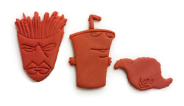 Aqua Teen Hunger Force Frylock Master Shake Meatwad Cookie Cutter Set - $22.99