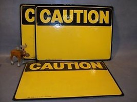 CAUTION Foam Adh. Write-On Sign Lot of 3 Emedco 34018 - $55.17