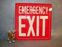 "EMERGENCY EXIT  Sign 10"" H x 10"" W Emedco 29091 - $35.17"