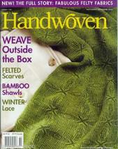 Handwoven magazine nov/dec 2006: felting; American girl coat/hat, handwo... - $14.80