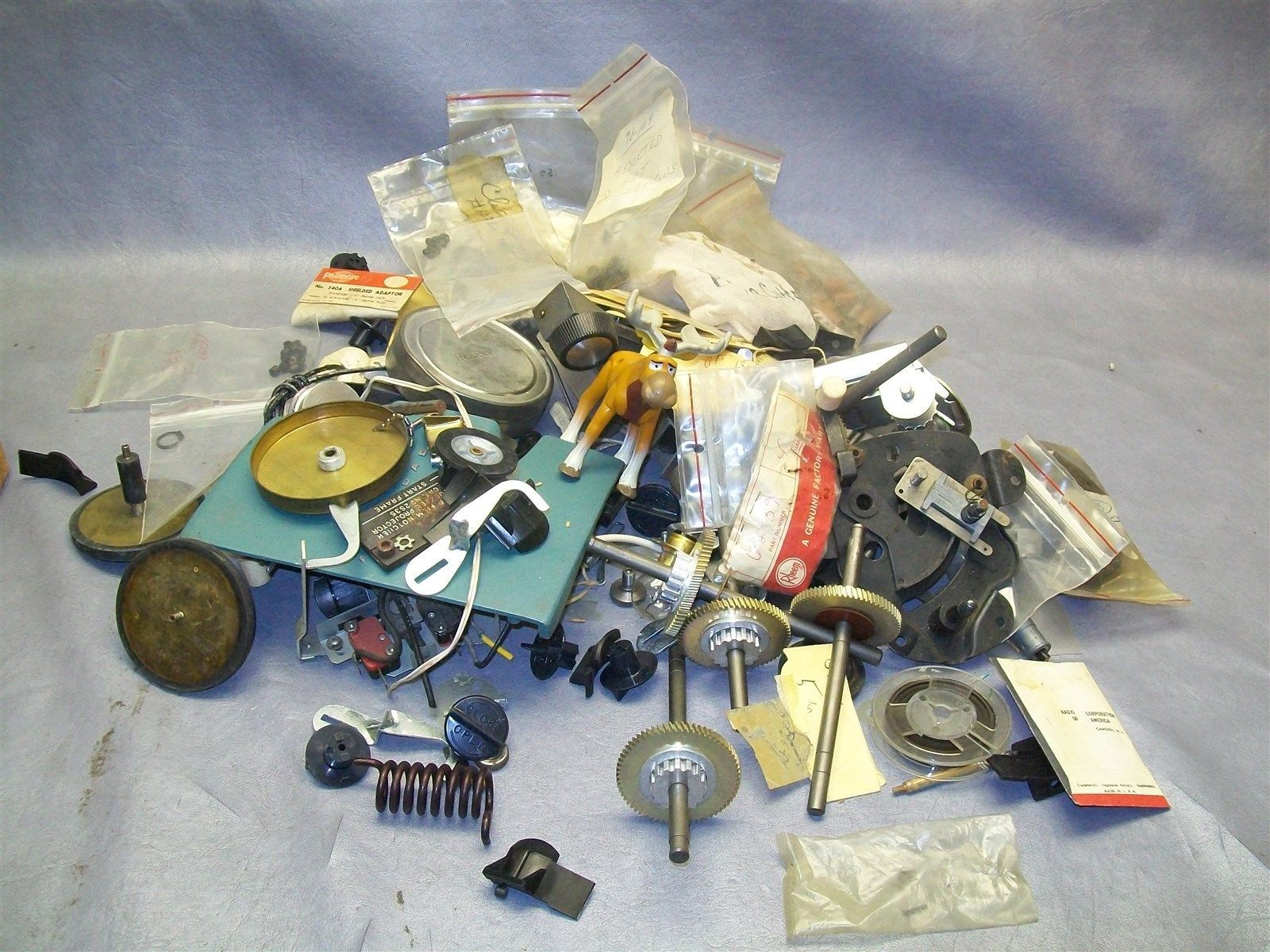 Lot of 11 Pounds of Vintage Movie Projector and Slide Projector Parts