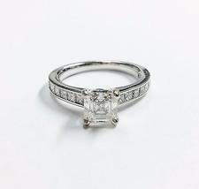 1.44ct Natural Asscher Cut E VVS1 Blue Nile And GIA Diamonds Enagement R... - £3,649.19 GBP