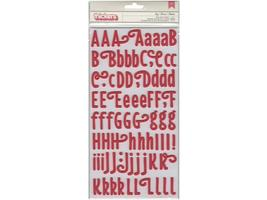 Pebbles-Thickers foam Letter Stickers-coral- 732882